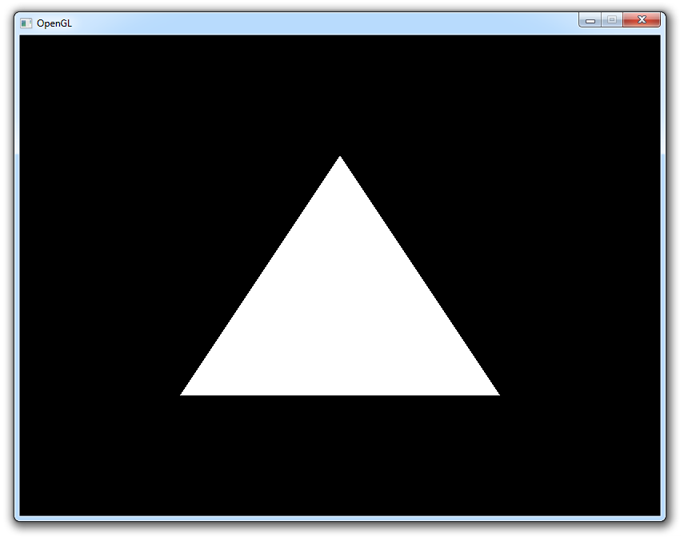 Normal output, equilateral triangle